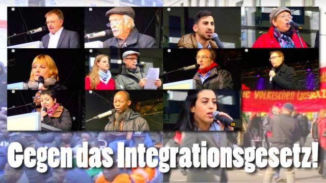 """gegen """"Integrationsgesetz"""""""