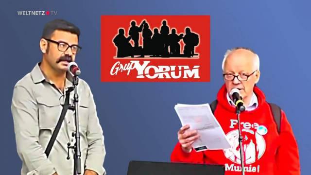 Eröffnung Kundgebung mit Grup Yorum