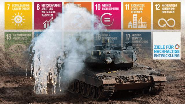 Nachhaltigkeit und Klimaschutz - nur ohne Bundeswehr!