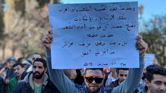 Algerien marschiert