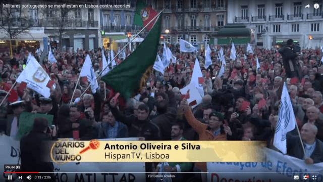 Protest der Militärs in Portugal