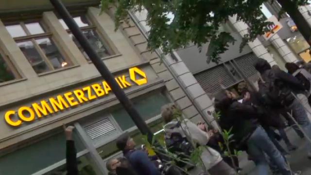 Blockupy 2012: Blockaden im Bankenviertel