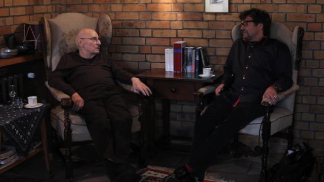 Diether Dehm im Gespräch mit Manfred Wekwerth