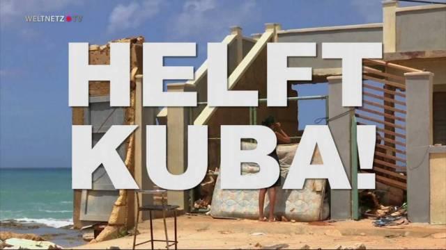 Helft den Hurrikan-Opfern in Kuba