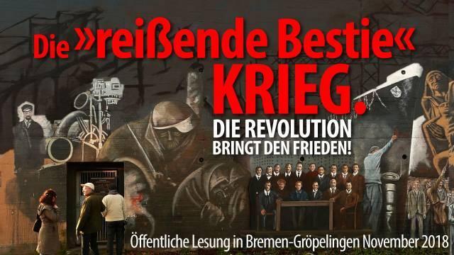 Die Revolution bringt den Frieden!