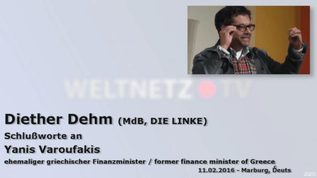 Diether Dehm mit Yanis Varoufakis