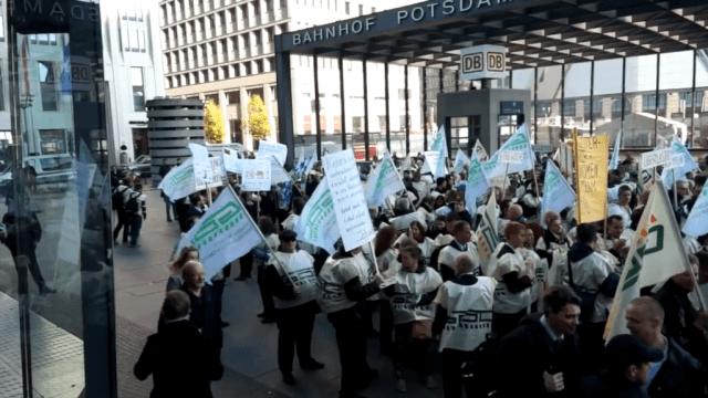 Demo der GDL-Mitglieder in Berlin