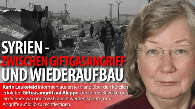 Karin Leukefeld informiert aus erster Hand über die aktuellen Ereigniss in Syrien