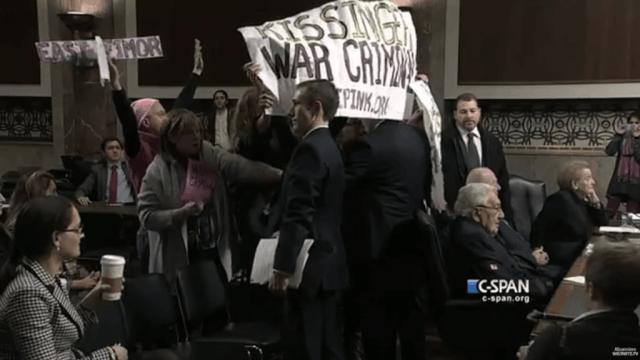 Protest gegen Kissinger