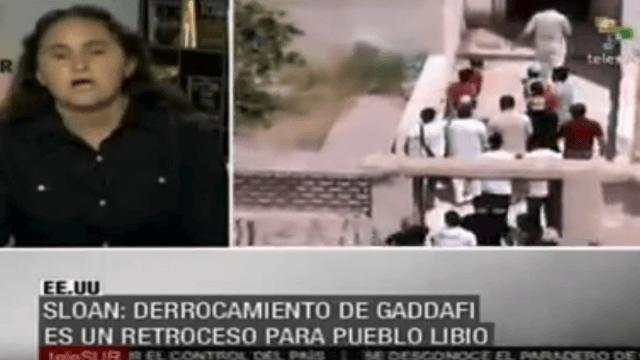 Sarah Sloan im Interview mit Telesur zum Geschehen in Libyen