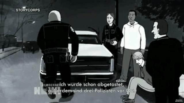"""Animationsfilm """"Traffic Stop"""": brutaler Polizeiübergiriff auf einen Schwarzen"""