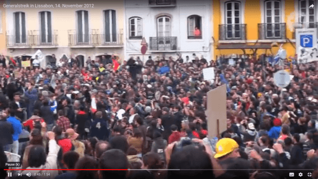 14. November - Generalstreik in Portugal