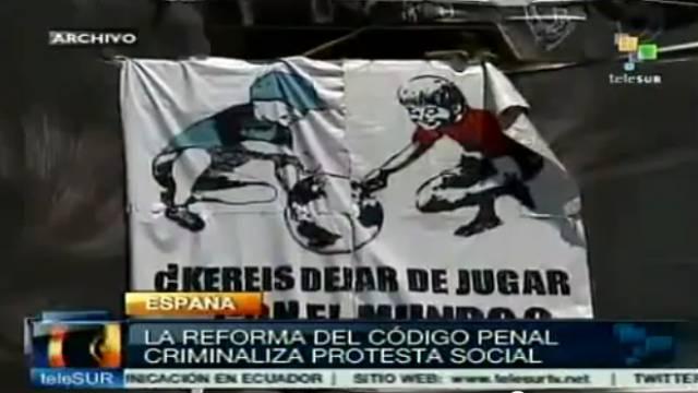 Ablehnung einer Strafrechtsreform in Spanien