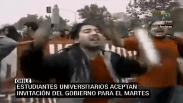Studierende in Chile sprechen mit Regierung