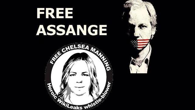 Chelsea Manning und Julian Assange