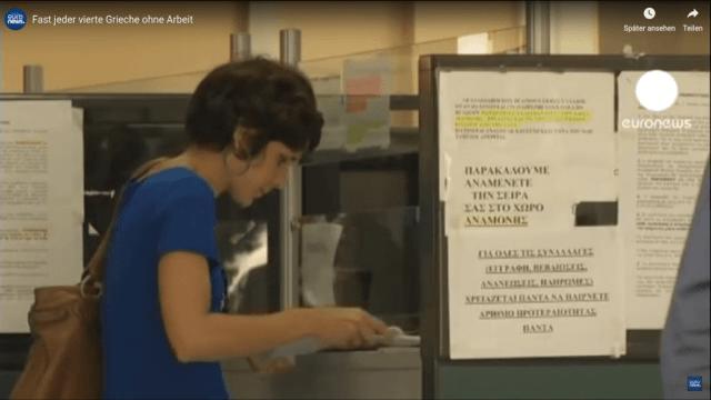 Fast jeder vierte Grieche ohne Arbeit
