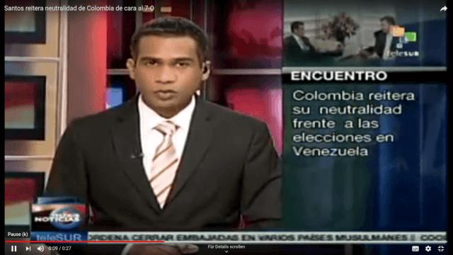 Kolumbien bleibt neutral