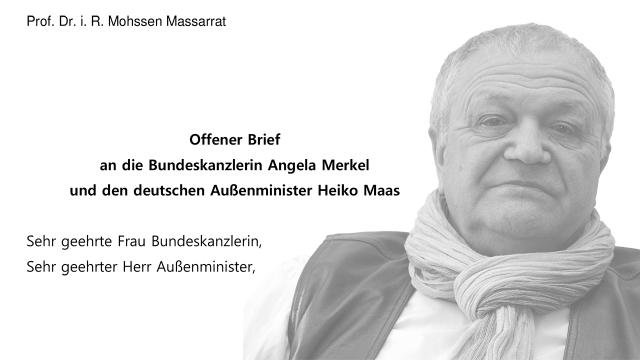 Offener Brief an die Bundeskanzlerin Angela Merkel und den deutschen Außenminister Heiko Maas
