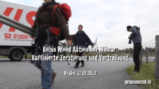 Robin Wood Aktion bei Wilmar