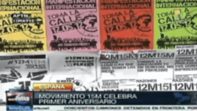 Spanische Bewegung 15M feiert ersten Jahrestag