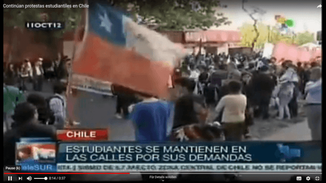 Studierende in Chile wieder auf der Straße
