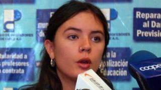 Sprecherin der Studierenden, Camila Vallejo