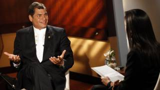 Rafael Correa im Interview