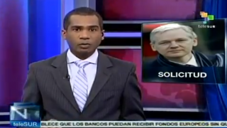 Standbild des Telesur-Beitrags zu Assange