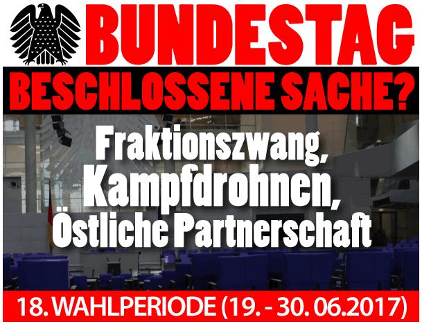 Bundestag 19.-30. Juni 2017