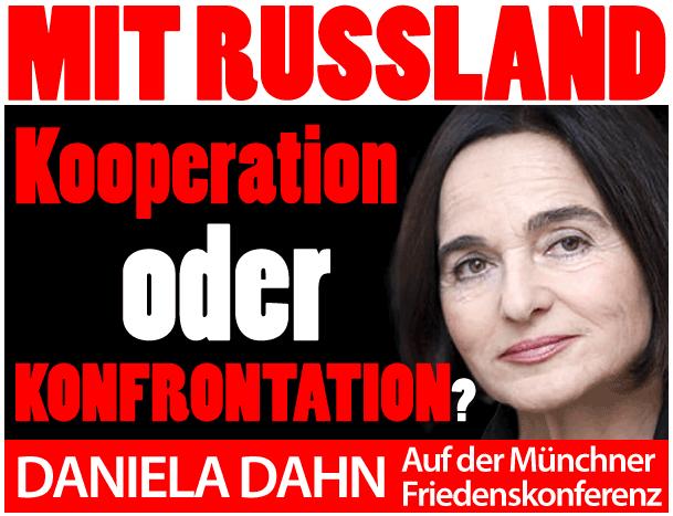 Daniela Dahn auf der Münchner Friedenskonferenz