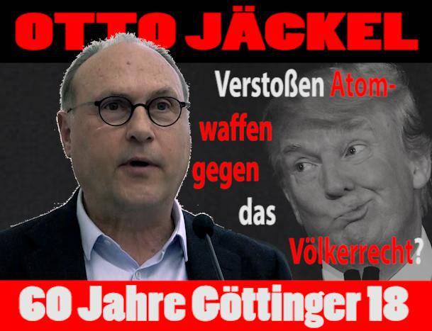 Otto Jäckel: Verstoßena tomwaffen gegen das Völkerrecht?