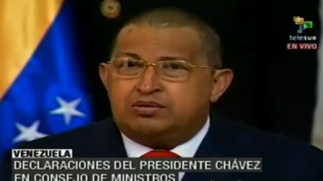 Hugo Chávez verliest Brief Gaddafis