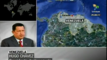 Hugo Chávez im Interview mit Telesur