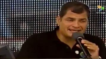 Rafael Correa in New York