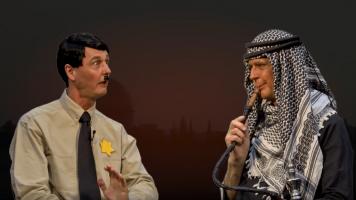 Reiner Kröhnert als Adolf Hitler und Amin al-Husseini