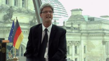 Reiner Kröhnert als Bundespräsident Joachim Gauck