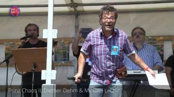 Prinz Chaos II, Diether Dehm & Michael Letz auf der Stopp Air Base Ramstein Demonstration