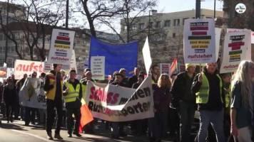 Demonstration gegen die Münchner Sicherheitskonferenz