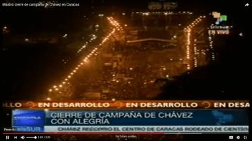 Zentrum von Caracas bei Abschlusskundgebung