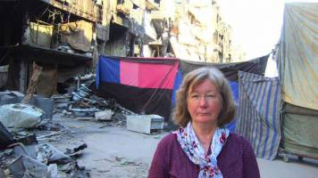 Karin Leukefeld in Damaskus
