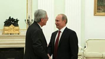 Jean-Claude Juncker und Vladimir Putin