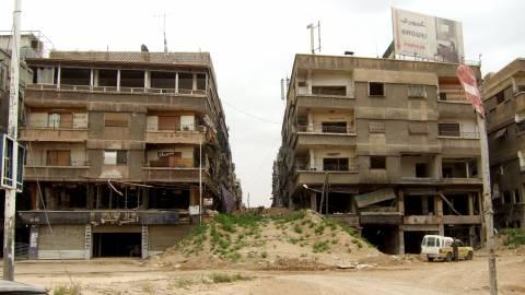 Das zerstörte palästinensische Flüchtlingslager Jarmuk