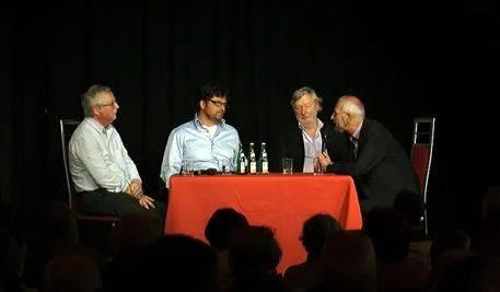 Mit Peter-Ferdinand Koch, Erich Schmidt-Eenboom, Arnold Schölzel und Diether Dehm