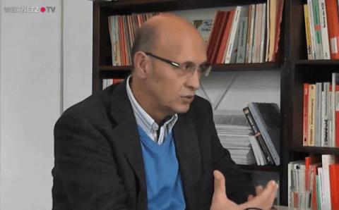 Der Publizist und Geschäftsführer der Rosa Luxemburg Stiftung Hessen, Murat Çakır