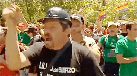 Protest der Bergarbeiter