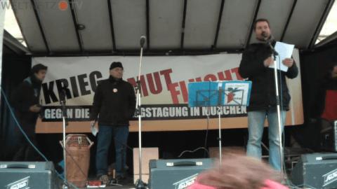 Demo gegen NATO Sicherheitskonferenz München 2016