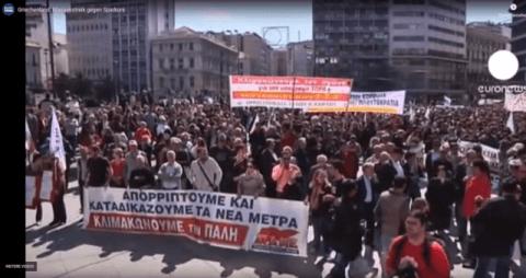 euronews -- Griechenland: Massenstreik gegen Sparkurs