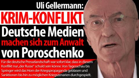 Uli Gellermann über das wiederholte Versagen der deutschen Medienlandschaft im Ukrainekonflikt