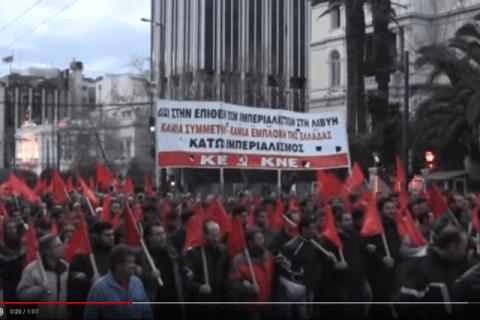 KKE verurteilt den militärischen Angriff gegen Libyen