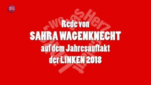 Sahra Wagenknecht beim Jahresauftakt der Linksfraktion 2018